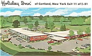 Holiday Inn Cortland NY Postcard p3169 (Image1)