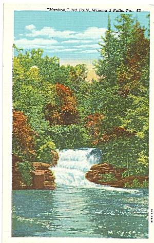 Winona 5 Falls,Pennsylvania, Manitou 3rd Falls (Image1)