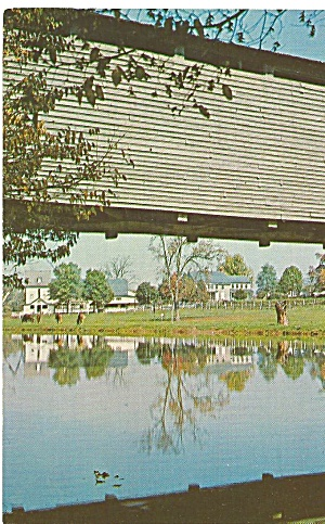 Pennsylvania Covered Bridge Zook S Mill Bridge Postcard P31759