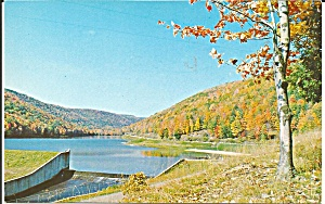 Lyman Run Dam Pennsylvania Postcard p31764 (Image1)
