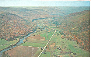 Pine Creek Valley Pennsylvania Viewed From Mt Tom P31765