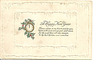 Happy New Year Vintage Embossed Card p31777 (Image1)