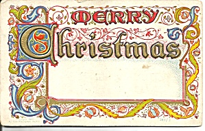 Christmas Divided Back Postcard (Image1)