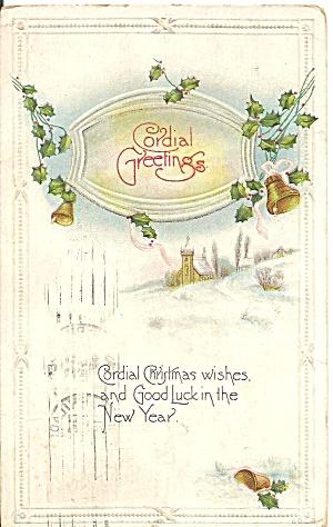 Christmas Vintage Postcard 1918 (Image1)