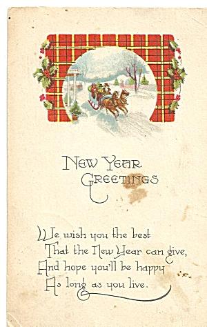 Happy New Years Vintage Card 1922 p31807 (Image1)