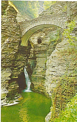 Watkins Glen New York Sentry Bridge Postcard P31855
