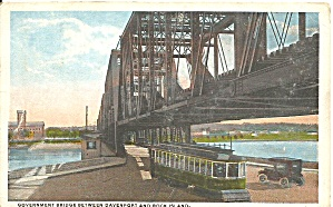 Davenport,iowa, Government Bridge P31862 1915