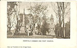 Deerfield MA Deerfield Common and Church p31863 (Image1)