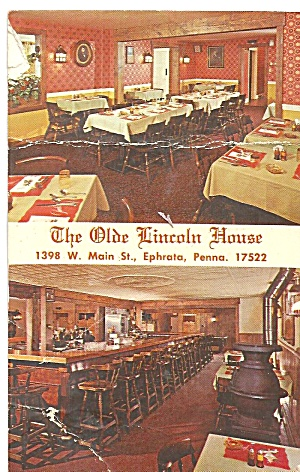 The Olde Lincoln House Pa Restaurant Interior Pa P31917
