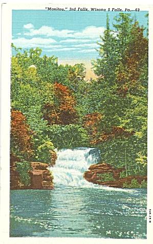 Poconos, Pennsylvania 3rd Falls of 5 Manitou (Image1)