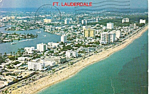 Ft Lauderdale Florida Aerial View Of Beach Hotels P31959