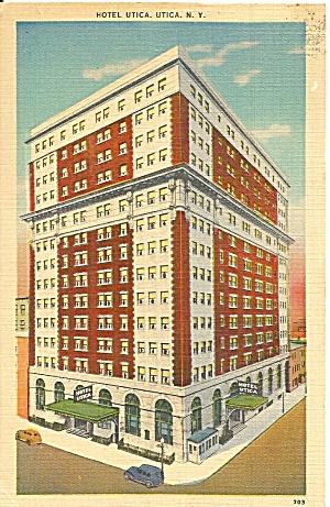Utica, New York  Hotel Utica Linen Postcard (Image1)