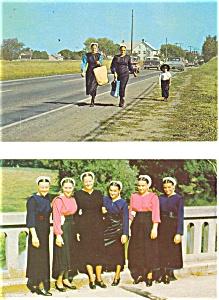 Amish Women Postcard Lot 2 p3197 (Image1)