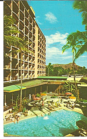 Honolulu Hawaii Waikiki Biltmore Pool Terrace P31985
