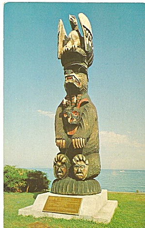 Vancouver Island, Canada,Salisg Bear Pole (Image1)