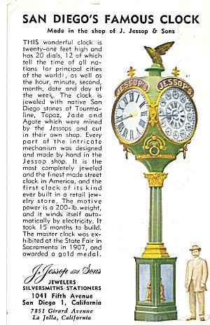 San Diego,California, Famous Clock (Image1)