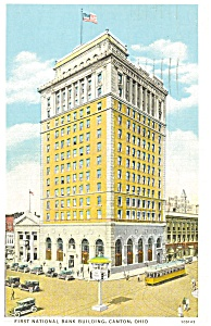 First National Bank Canton OH Postcard (Image1)
