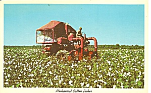 Mechanical Cotton Picker Postcard P32072