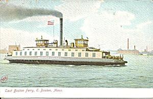 East Boston Ferry Vintage Postcard p32112 (Image1)