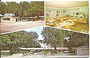 Dade City Florida Peek s Motor Court Postcard p32149 (Image1)