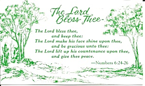 The Lord Blees Thee  from Numbers 6:24-26 p32156 (Image1)