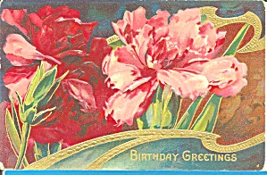 Birthday Greetings Divided Back Postcard p32163 (Image1)