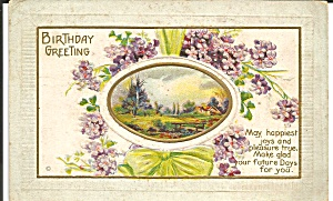 Birthday Greetings Divided Back Postcard 1914 (Image1)