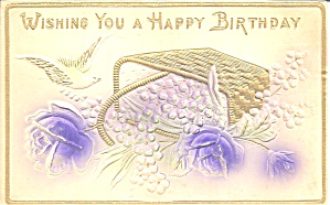 Birthday Greetings Divided Back Postcard p32168 (Image1)