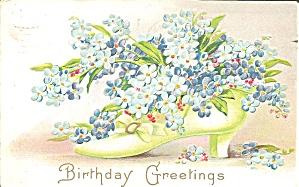 Birthday Greetings, Divided Back Postcard 1909 (Image1)