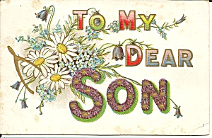 To My Dear Son Divided Back Postcard (Image1)