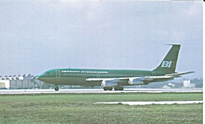 Braniff International 720 On Taxiway Jetliner P32208