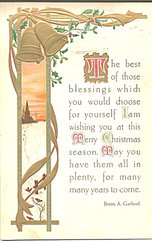1911 Christmas Card Words by Brette A Garland (Image1)