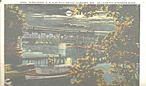 C M and St Paul Railroad Bridge Kilbourn WI 1917 p32341 (Image1)