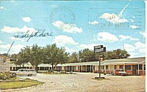 Vega Texas Vega Court Postcard p32379 (Image1)