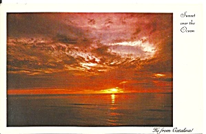 Catalina California Sunset Over The Ocean p32393 (Image1)