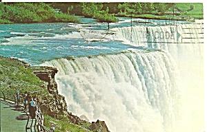Niagara Falls American Falls in 1966 Postcard p32422 (Image1)