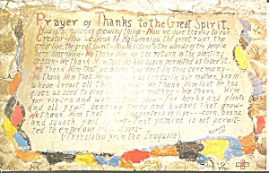 Genoa Co Indian Prayer To The Great Spirit P32428