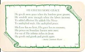 Hymn He Giveth More Grace (Image1)