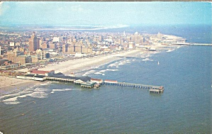Atlantic City, New Jersey Aerial View Along Beach