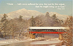 Covered Bridge and 1 Peter Verse (Image1)