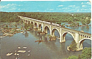 James River VA Amtrak Auto Train on Bridge p32521 (Image1)