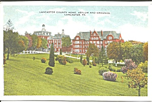 Lancaster Pa County Home Asylum And Grounds P32547