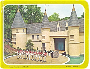 Busch Gardens Three Musketeers Postcard (Image1)