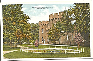Lancaster  PA Lancaster County Jail Postcard p32614 (Image1)