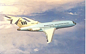 Braniff International 727-27c N7272 In Pastel Blue P32635