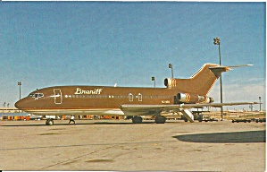 Braniff International 727-230c N311bn In Chocolate Brown P32636