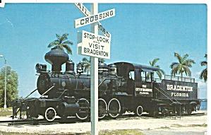 Bradenton  FL  Old Wood Burning Locomotive p32647 (Image1)