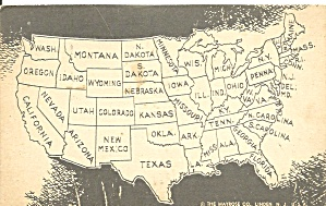 Map of the United States  Divided Back Postcard p32678 (Image1)