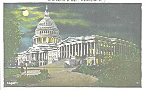 Washington DC US Capitol at Night p32722 (Image1)