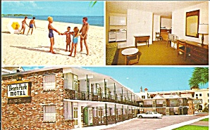 St Petersburg Fl Beach Park Motel Postcard P32731